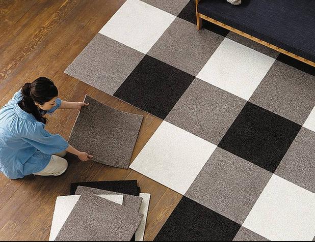 Фото - Особенности модульной ковровой плитки