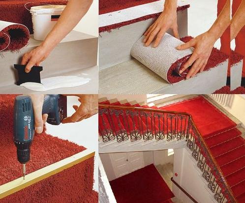 Фото - Как обшить лестницу ковролином